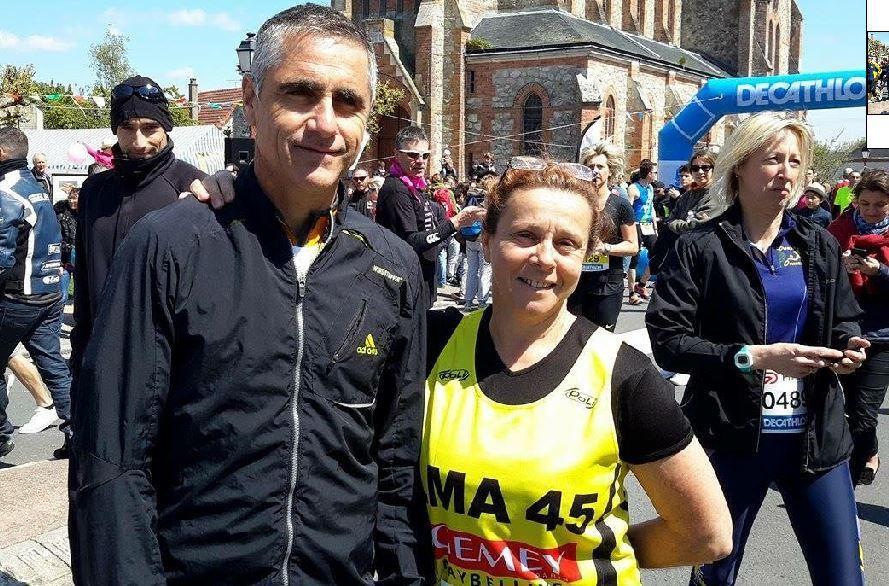 Malika Motais en compagnie de Laurent Jalabert ... c'était à Vienne en Val ce 1er Mai 2016