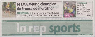 Athlétisme : La reconnaissance du LMA (45) à ses champions de France