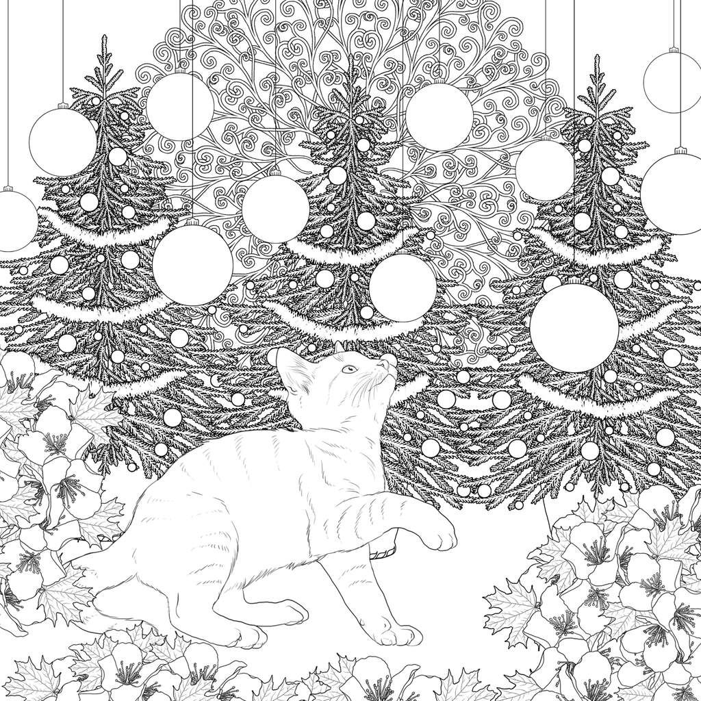 Carre D Art Therapie Kitties Un Coloriage Inedit Et De Saison