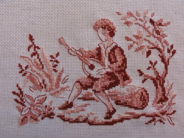Jeune musicien - Style toile de Jouy