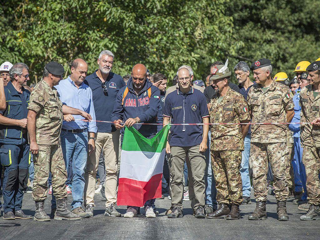 Amatrice:militari esercito hanno ricostruito&quot&#x3B;Ponte della Rinascita&quot&#x3B;