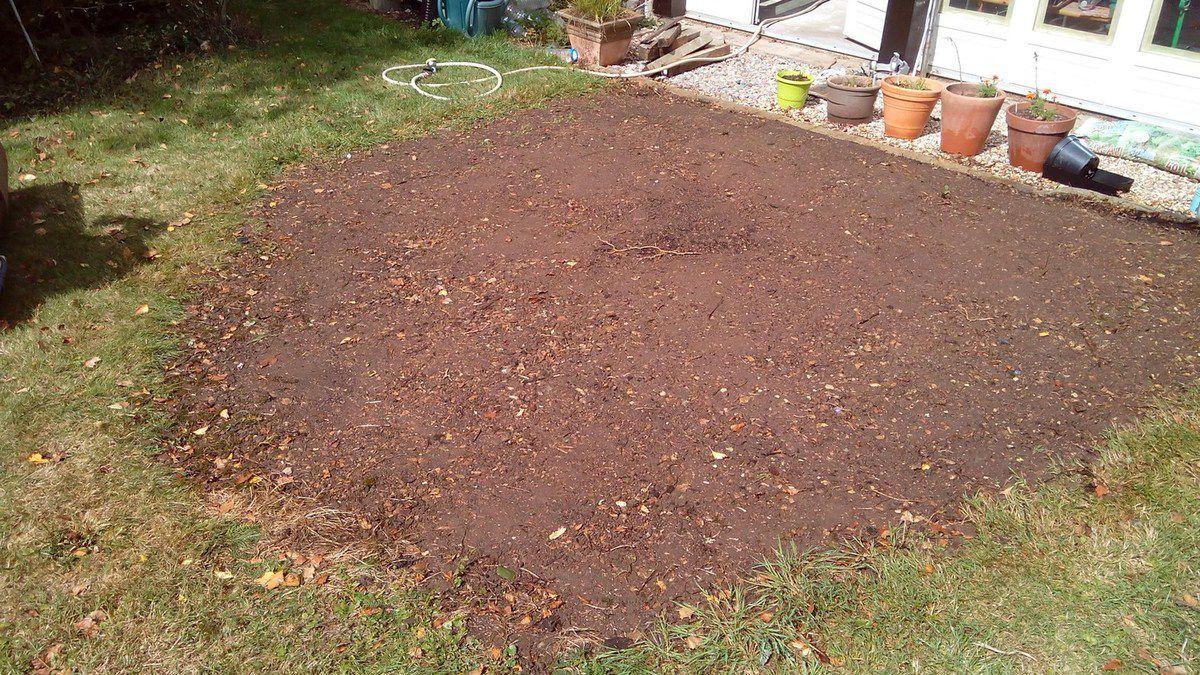 a la place du sapin,de la terre a été ramené pour combler l'épaisseur des racines.