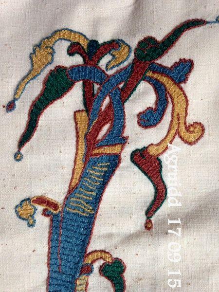 des amis végétaux  brodés (point de Bayeux)