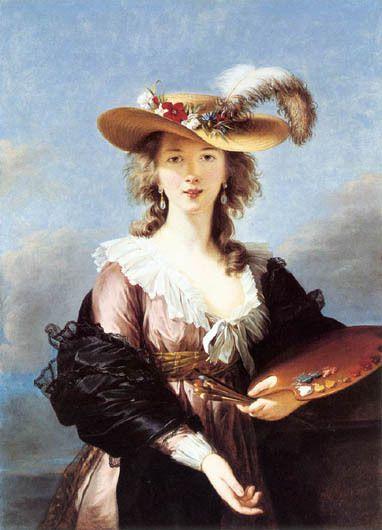 1781 Kimbell Art Museum        Autoportrait au pastel à 16 ans   Autoportrait au chapeau de paille 1782 Londres N. G.