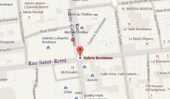 Où se situe la Galerie Bordelaise à Bordeaux ?