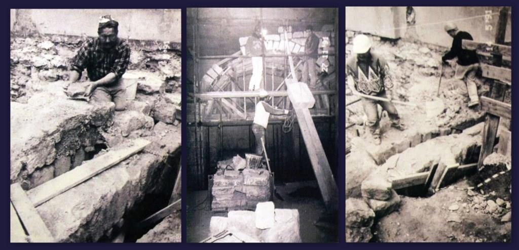 Remontage de l'arche en 1991. Photographies Catherine Brut