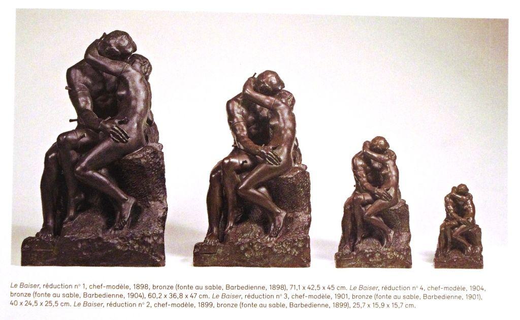 Le Baiser, bronze, fontes au sable, Fonderie Ferdinand Barbedienne, de 1898 à 1904