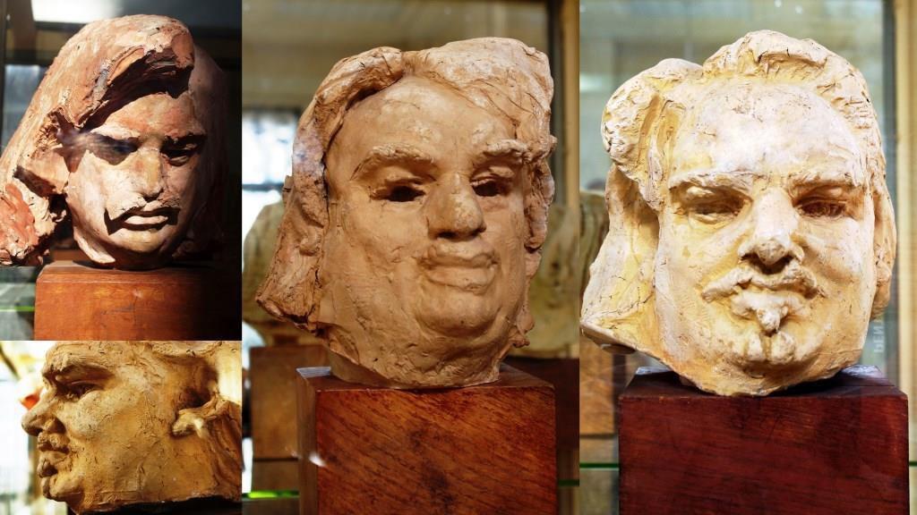 Etudes en plâtre pour le Monument de Balzac Atelier de Meudon