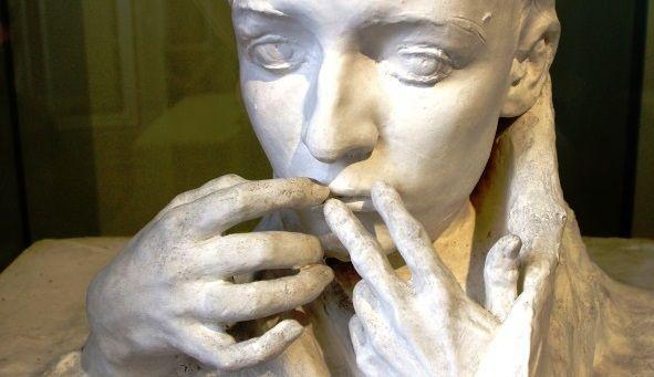 """""""L'Adieu"""" d'Auguste Rodin plâtre 1898"""