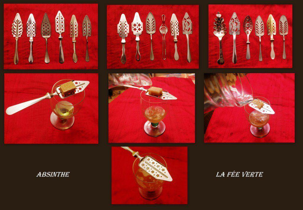 Les cuillers à absinthe et quelques-uns de ses modèles La fée verte et sa technique (Collection privée)