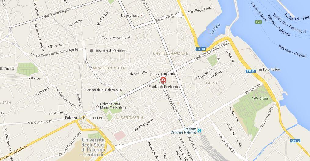 Ou se situe la fontaine de la place Pretoria ?