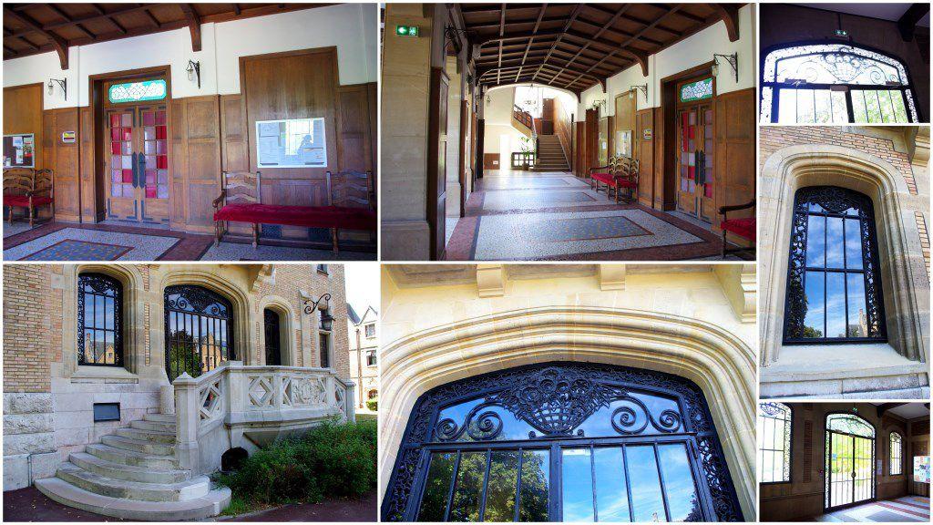 L'intérieur du pavillon central de la Fondation Deutsch de la Meurthe