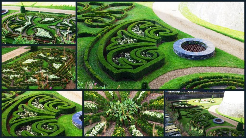 Les jardins extérieurs du château, le long des fortifications