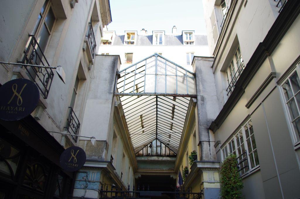 La partie couverte et sa verrière côté rue Saint-André-des-Arts