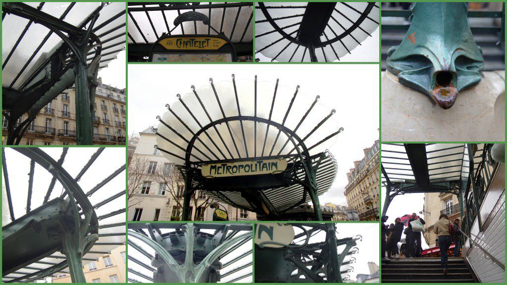 La sortie de métropolitain Châtelet