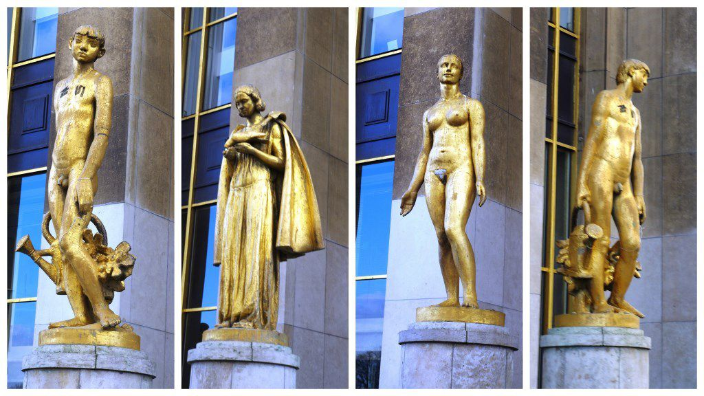 Les statues du parvis du Palais de Chaillot
