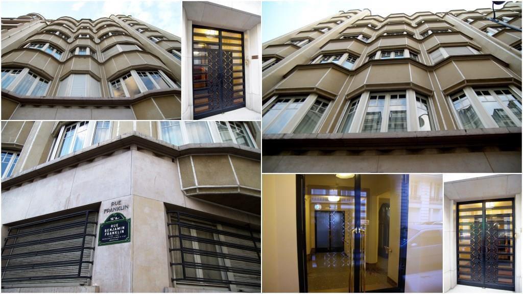 L'immeuble de style art déco situé à l'angle des rues Benjamin Franklin et Scheffer