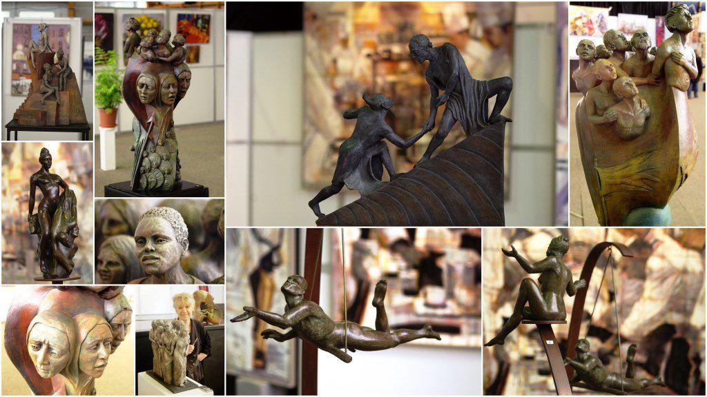 Les oeuvres de Liliane présentées au 59ème Salon, montage photographique