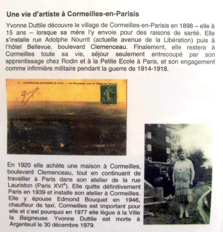 L'artiste sculptrice Yvonne Dutille aux Musées Réunis Musée du Plâtre de Cormeilles-en-Parisis, une élève d'Auguste Rodin
