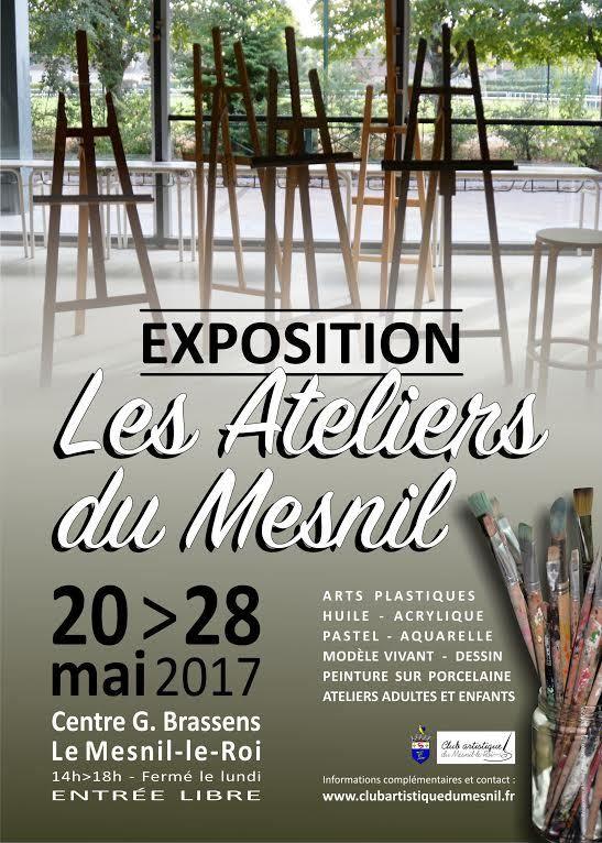L'affiche et la banderole de l'exposition du Mesnil-le-Roi