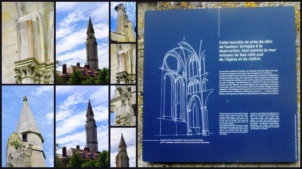 La miraculée tourelle de l'église abbatiale