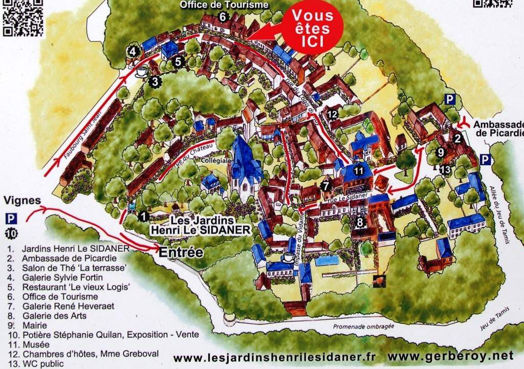Plans du village de Gerberoy Sources Office de Tourisme, Gerberoy