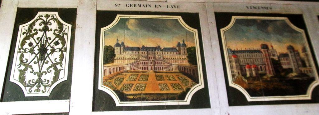 Le châteaux de Saint-Germain-en-Laye et de Vincennes peints à l'époque