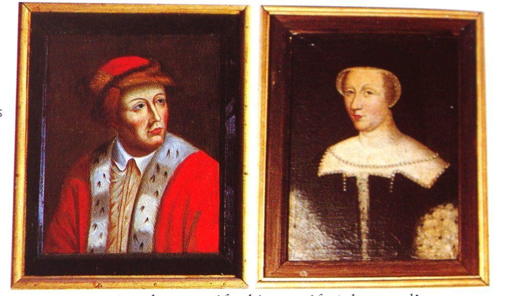 Le comte de Dunois d'après Simon Vouet (1590-1649) et Diane de Poitiers d'après François Clouet (1515 - 1572)
