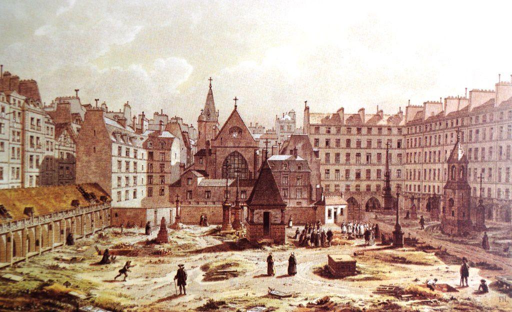 Du cimetière des Innocents en 1552, en 1750, en 1855, en 1878 et à l'époque actuelle