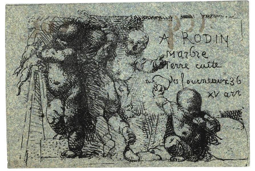 Carte de visite d'Auguste Rodin