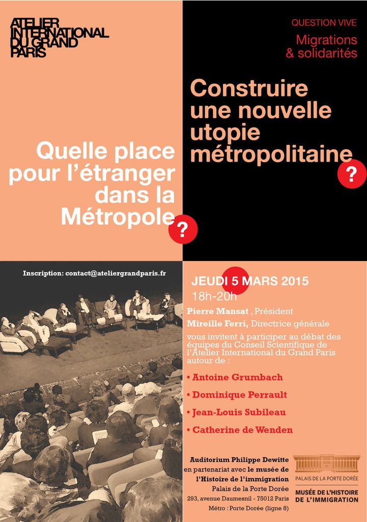 >  Question vive de l'AIGP: pour une nouvelle utopie métropolitaine, #GrandParis