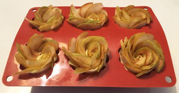 Roses aux pommes {La p'tite recette sympa du dimanche}