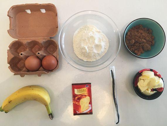 Gâteau banane et vanille {La p'tite recette sympa du dimanche}
