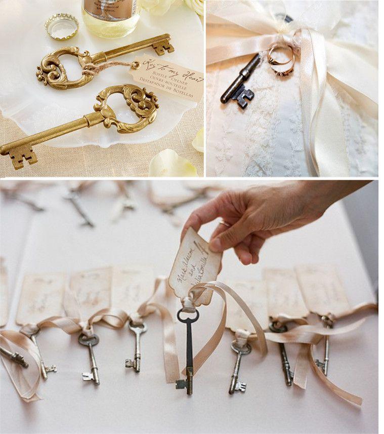 7 id es pour incorporer des cl s dans votre d co for Decoration porte pour mariage