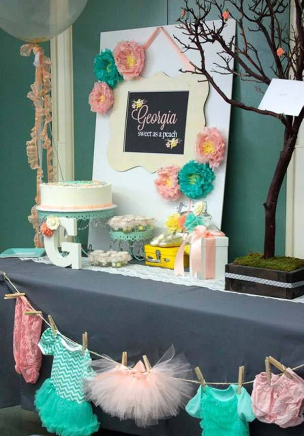 decoration baby shower candy bar