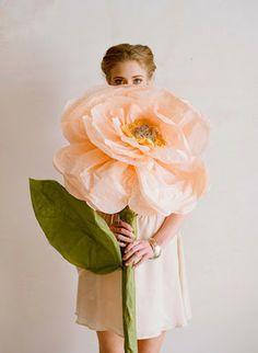 Fleur en papier geante