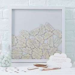 cadre  messages nuage decoration baby shower
