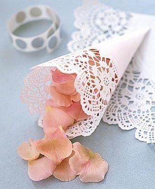 Des cônes à confettis pour votre mariage