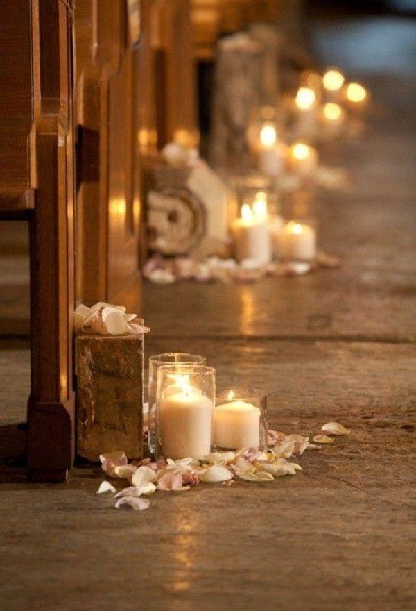 décoration église bougies