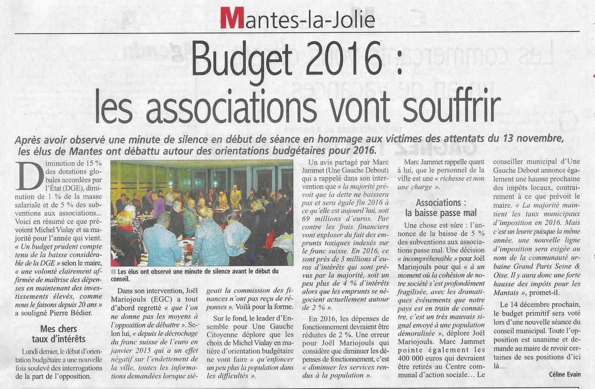 Le Courrier de Mantes. Les associations vont souffrir