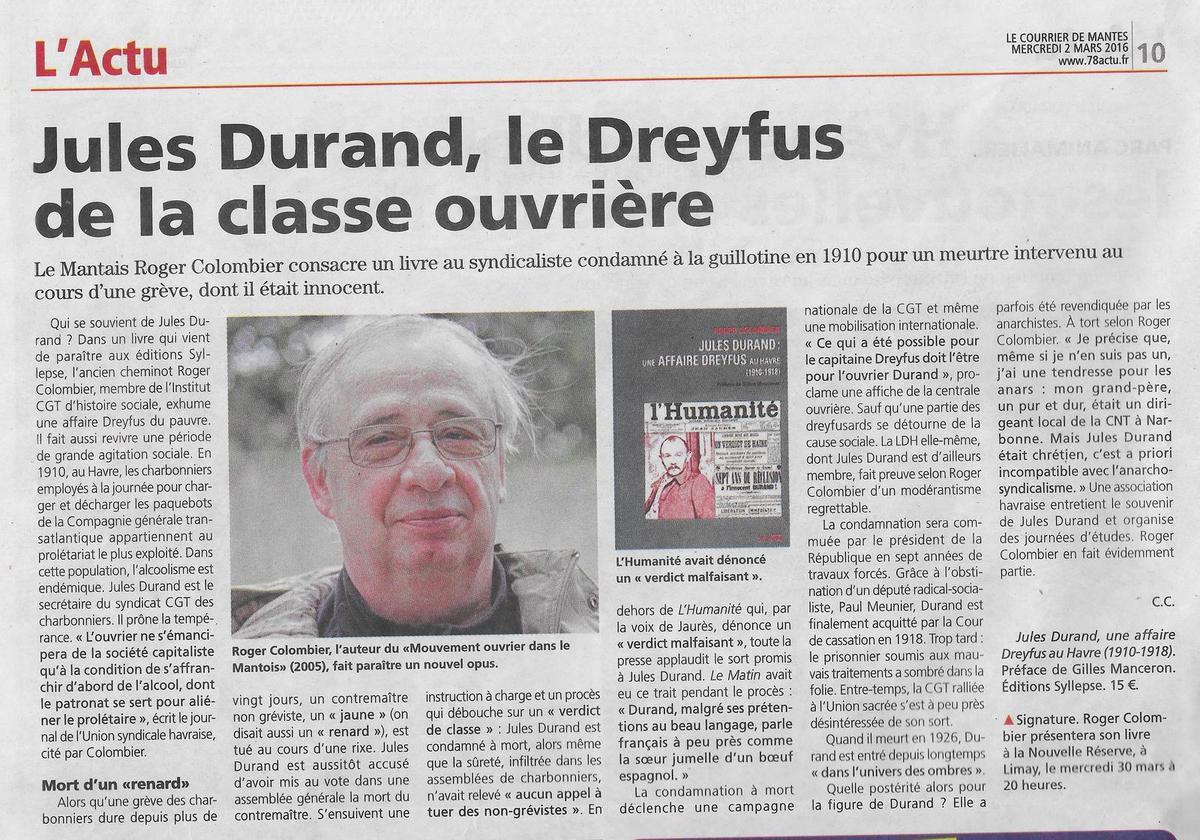Revue de presse. De Dunlopillo à l'éviction limayenne en passant par le Dreyfus Mantais
