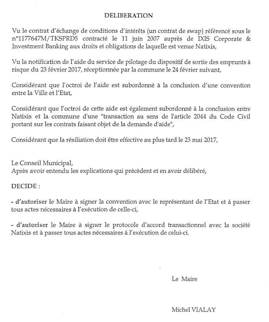 Lettre info munici. Mantes-la-Jolie. Emprunts toxiques: une facture de plus de 12 millions d'euros.