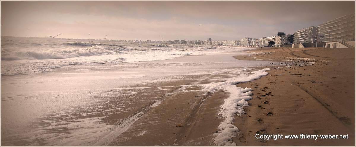 La plage de La Baule en hiver