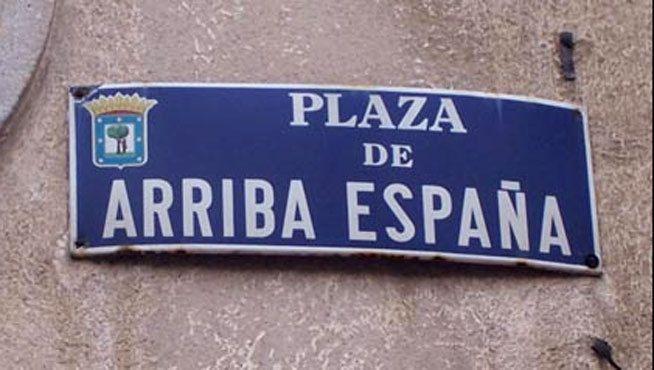 Imagen: vestigios del callejero franquista que hay que remover