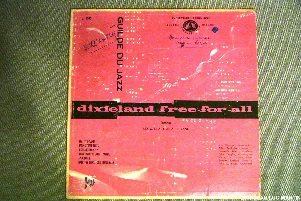 REX STEWART: DIXIELAND FREE FOR ALL GUILDE DU JAZZ J 1003
