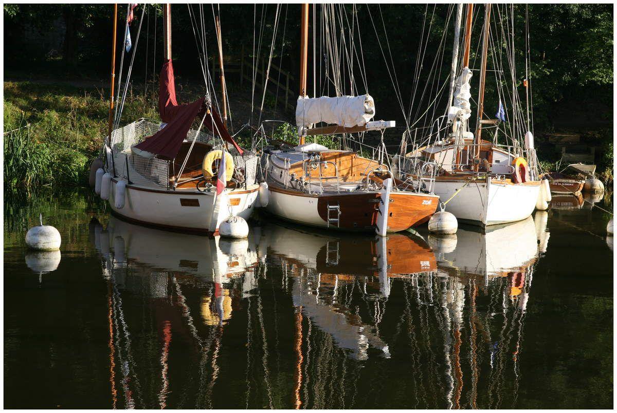 Flotille de vieux gréements dans le Port de La Roche-Bernard