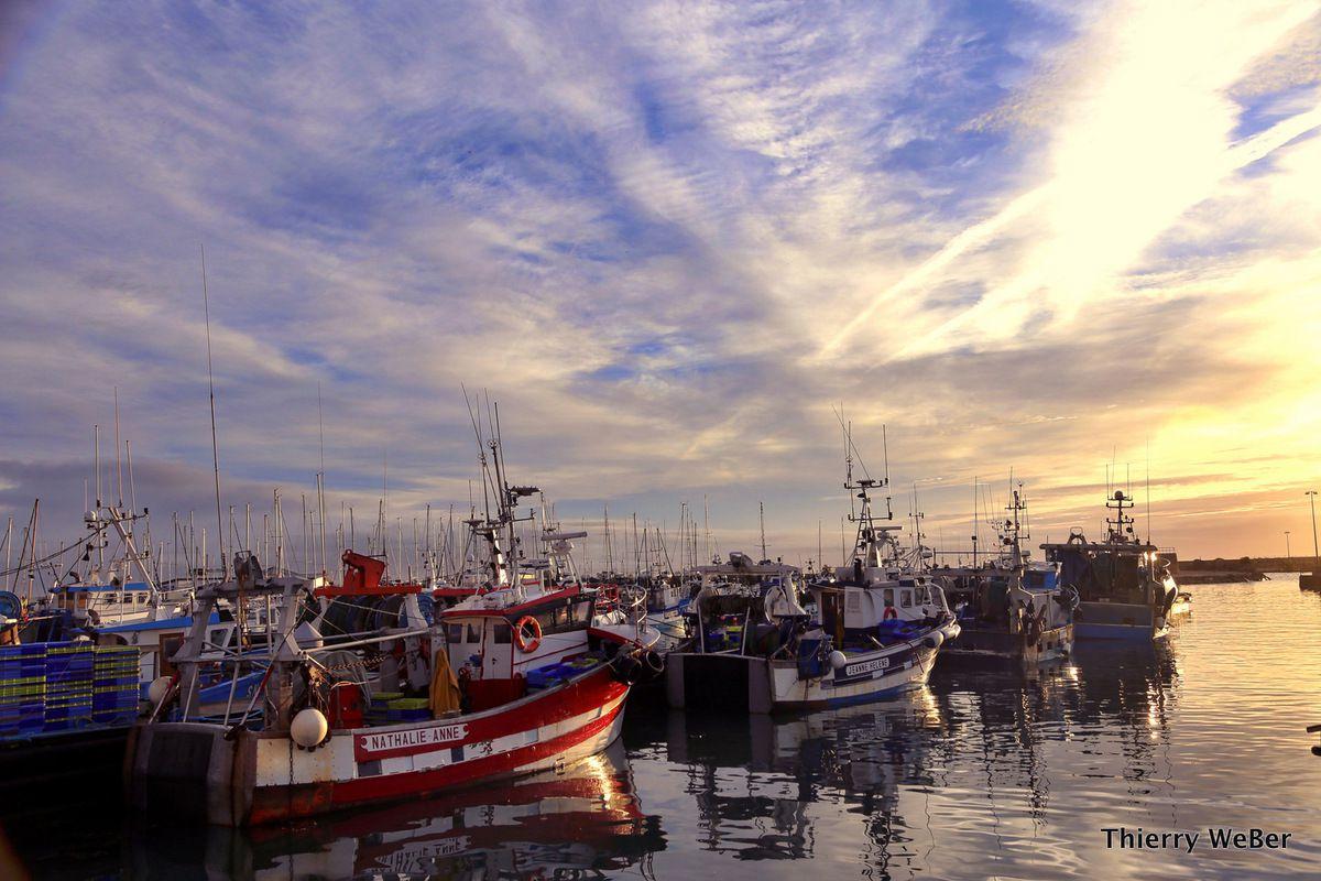 Lumières d'automne sur le port de La Turballe