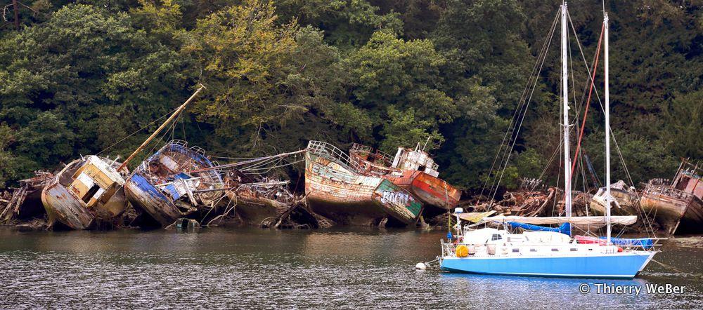Le bassin à flot de Port Rhu Douarnenez - Finistère