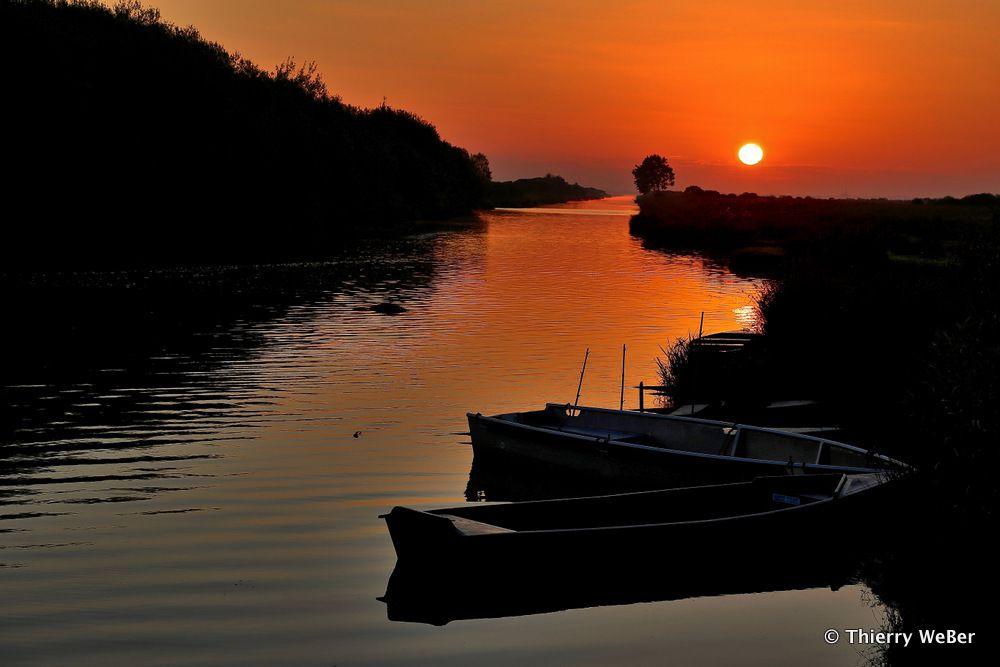 Port de Breca au petit matin - Saint Lyphard Parc Naturel de Brière