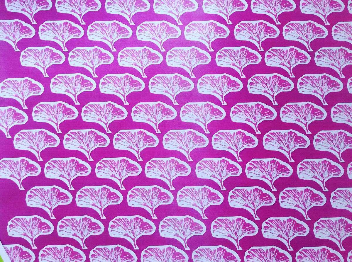 Création du motif textile Ginkgo.